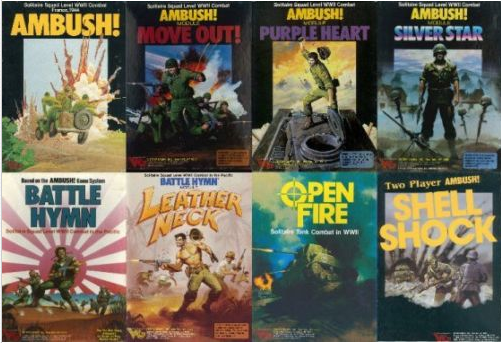 Avalon Hill Victory Games - Ambush Series Games Complete Collect