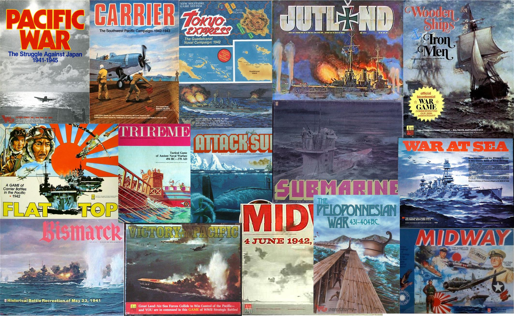Avalon Hill Naval Games Collection 16 Games